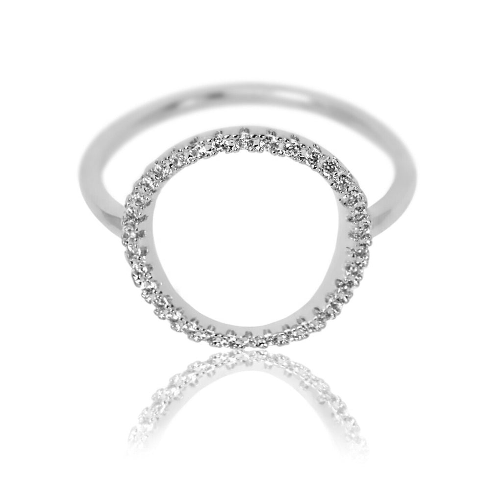 white gold-plated circle ring Aurum Mod