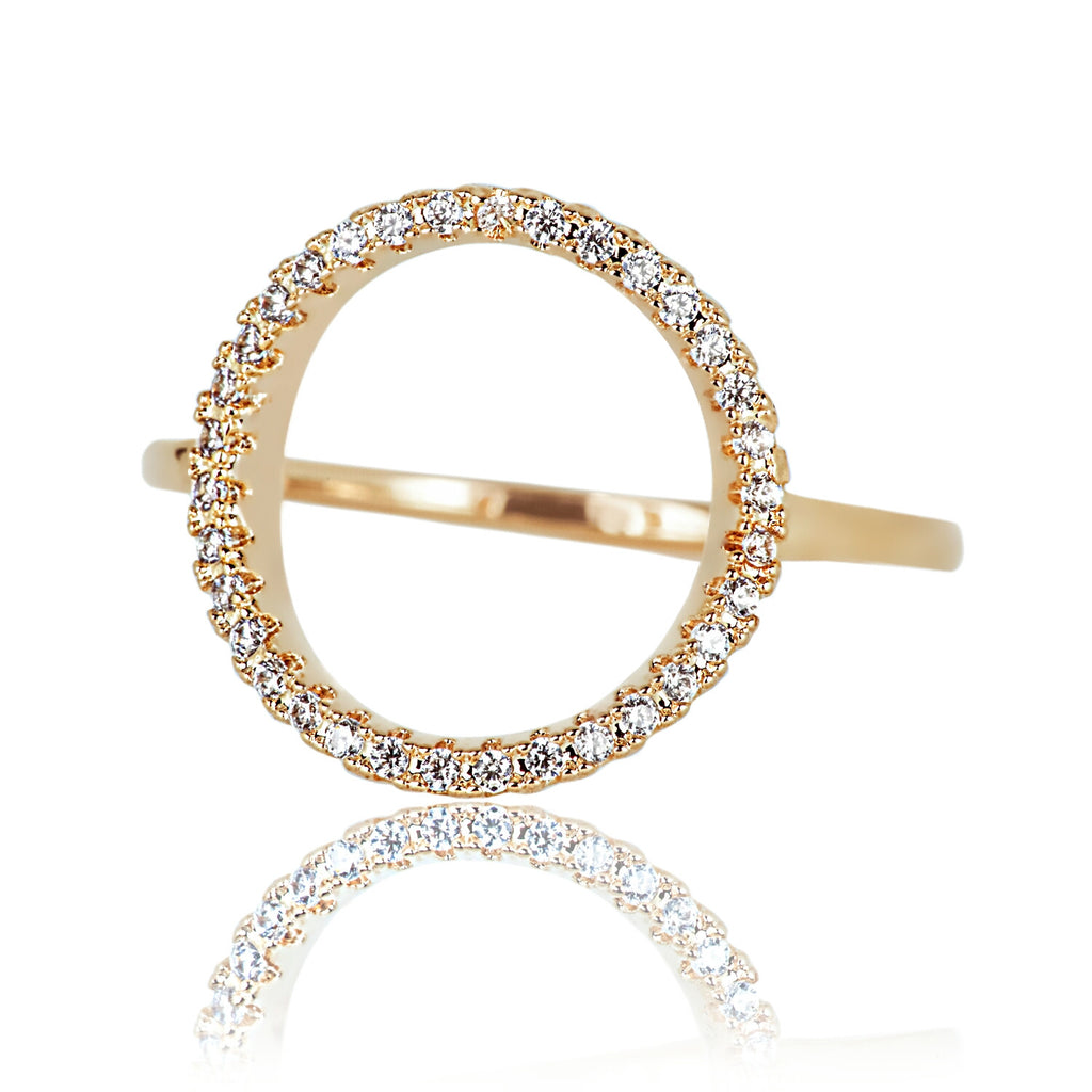 Aurum Mod yellow gold-plated circle ring