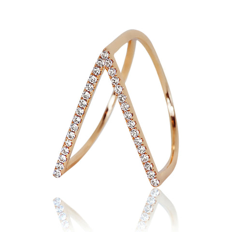 AB1046 - Jali Modern Rose Gold Ring Design