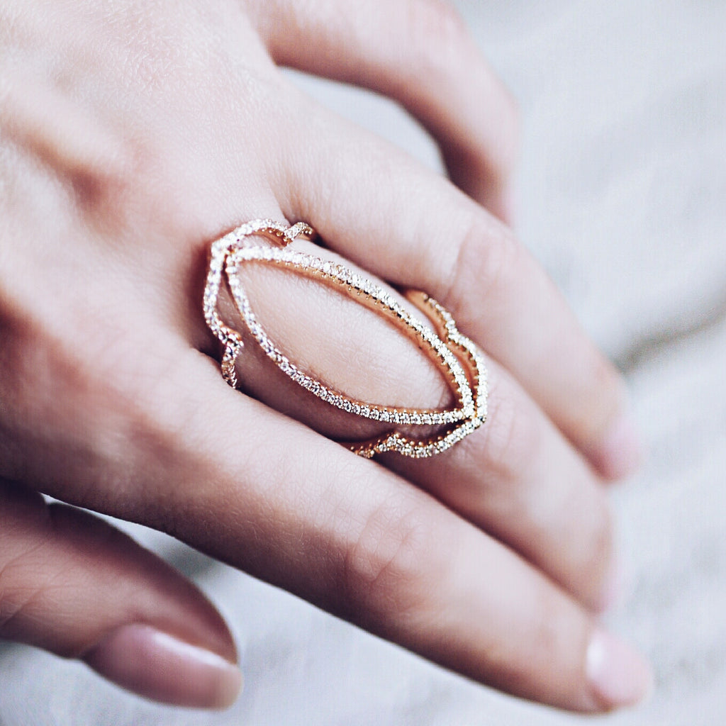 AB1015 - Amare Rose Gold Modern Ring Design