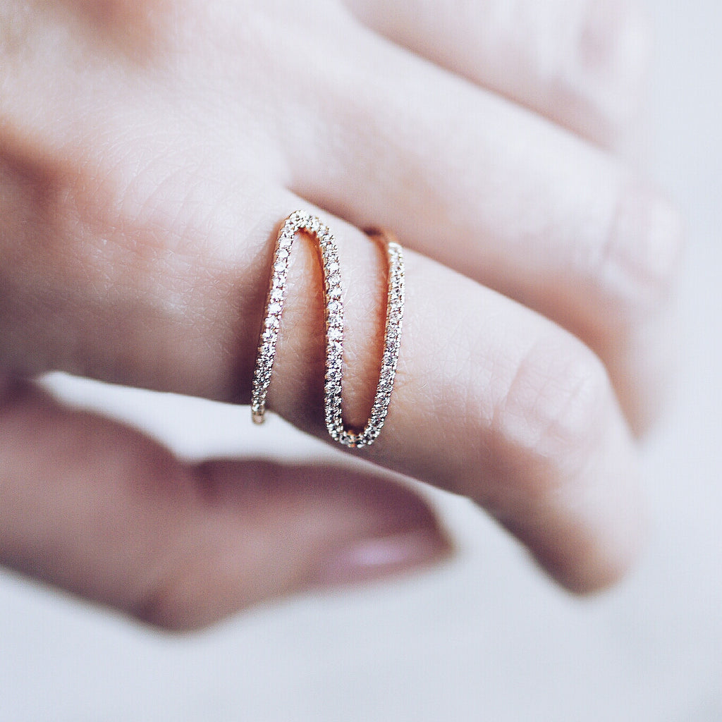 AB1044 - Wema Modern Rose Gold Ring Design