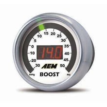 Load image into Gallery viewer, AEM Boost Gauge 50psi Digital 52mm - Draven Performance