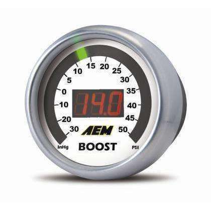 AEM Boost Gauge 50psi Digital 52mm - Draven Performance