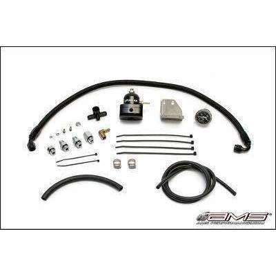 AMS Performance Black Fuel Pressure Regulator Kit Mitsubishi Evolution X 08-14 - Draven Performance