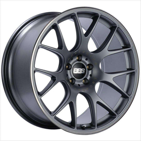BBS CH-R 18x8.5 5x112 47mm Satin Titanium - Draven Performance