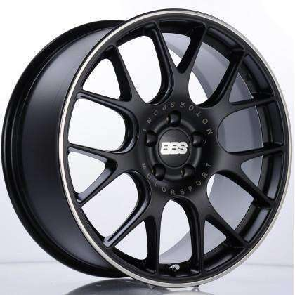BBS CH-R 19x9.5 5x112 35mm Satin Black Polished - Draven Performance
