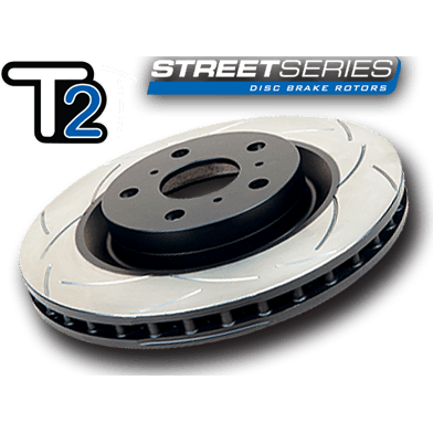 DBA T2 Street Series Rear Rotors Pair - 2008+ Subaru STI