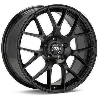 Enkei Raijin 18x8 45mm Inset 5x100 Matte Black Wheel - Draven Performance