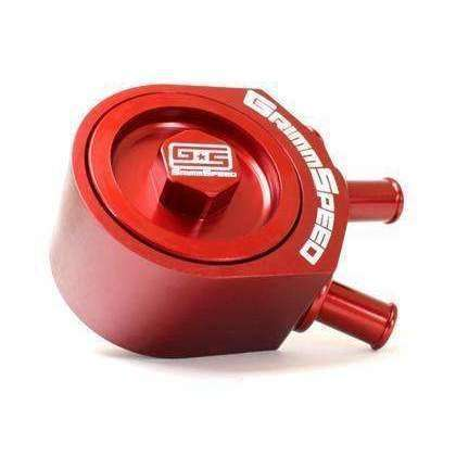 GrimmSpeed Air Oil Separator Red -  2008+ Subaru STI