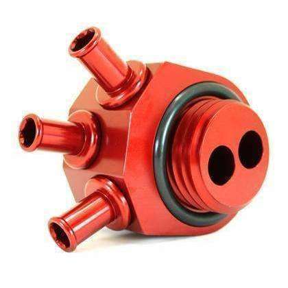 GrimmSpeed Air Oil Separator Red -  2008+ Subaru STI - Draven Performance