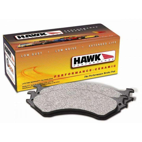 Hawk Performance Ceramic Rear Brake Pads - 2008+ Mitsubishi Evolution X - Draven Performance