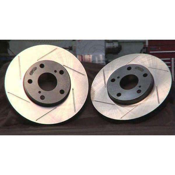 StopTech 2-Piece Slotted Aerorotor 350x32 Pair - 2008+ Mitsubishi Evolution X - Draven Performance