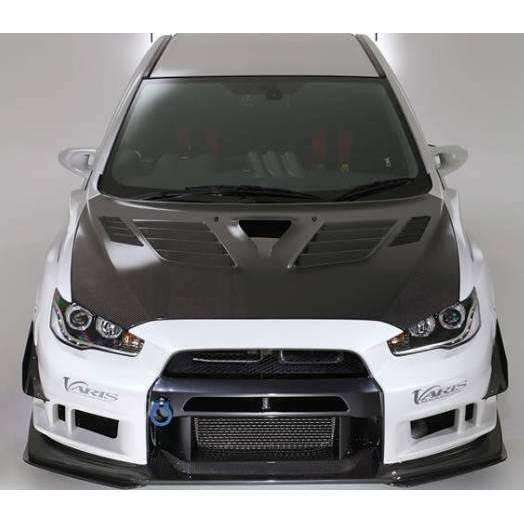 Varis Ultimate Cooling Bonnet Carbon - Mitsubishi Evolution X - Draven Performance