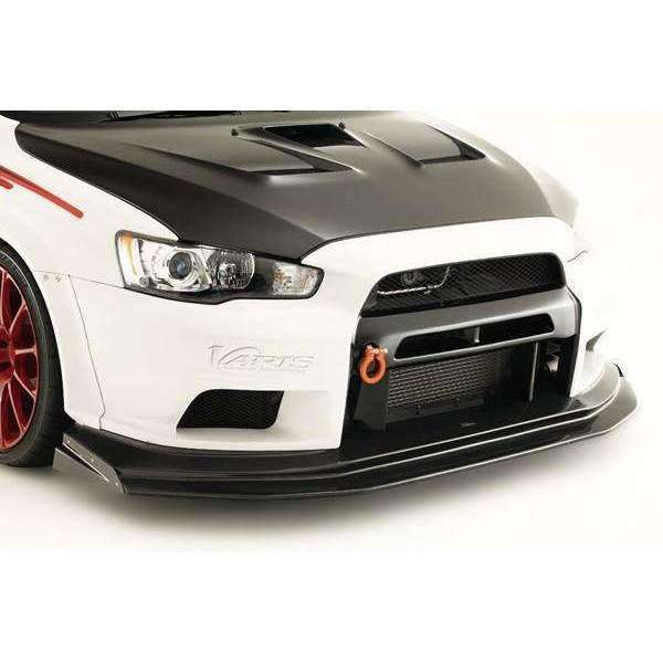 Varis Widebody Front Bumper w/Front Wide VSDC Racing Diffuser - Misubishi Evolution X - Draven Performance