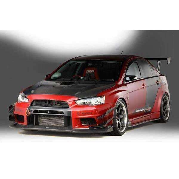Varis Widebody Single Hyper Canard Carbon - Misubishi Evolution X - Draven Performance