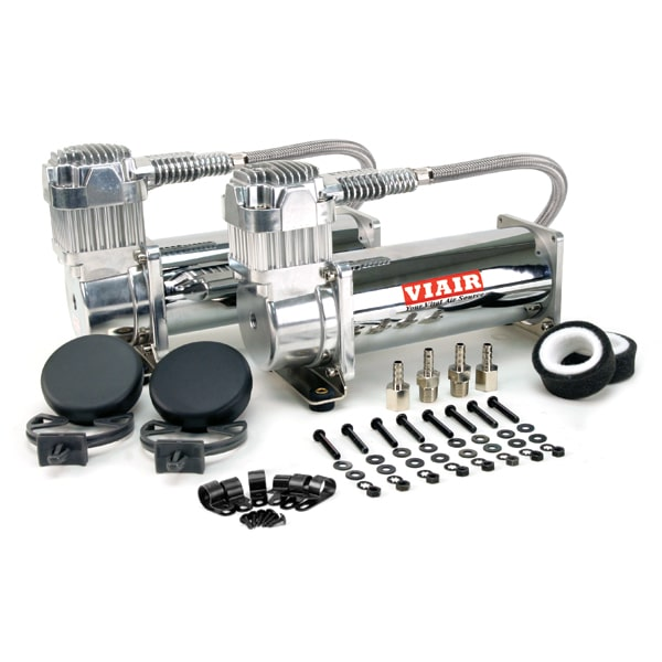Air Lift Performance Viair 444C Dual Chrome Air Compressors 200 psi - Draven Performance