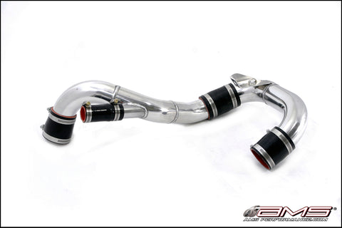 AMS Performance Polished Lower Intercooler Pipe - Mitsubishi Evolution X - Draven Performance