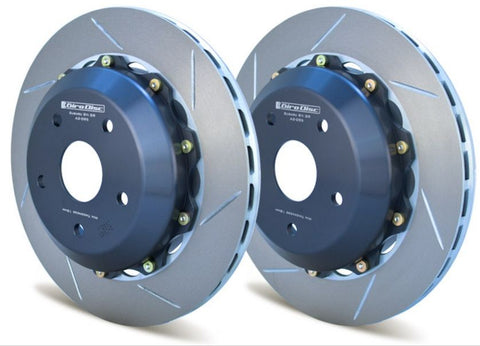 Girodisc 2-Piece Slotted Rear Rotors - 2017+ Honda Civic Type R - Draven Performance
