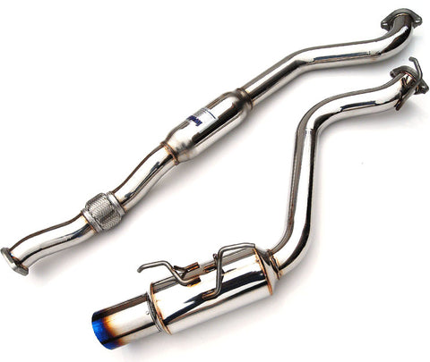 Invidia N1 Cat Back Exhaust Titanium Tip | 2008-2014 Subaru WRX Hatchback - Draven Performance