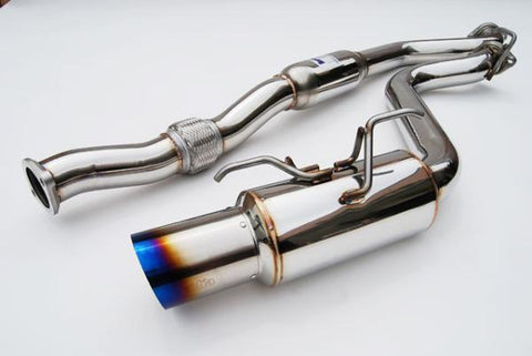 Invidia HS08SW4GST Racing Single Titanium Tips Catback Exhaust -  2008-2014 Subaru WRX | STI - Draven Performance