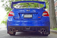 Load image into Gallery viewer, Rally Armor UR Mudflaps Black Urethane Grey Logo - 2015+ Subaru WRX | STI - Draven Performance
