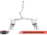 AWE Tuning Touring Edition Chrome Silver Quad (102mm) Tips Exhaust - 2015+ Subaru WRX