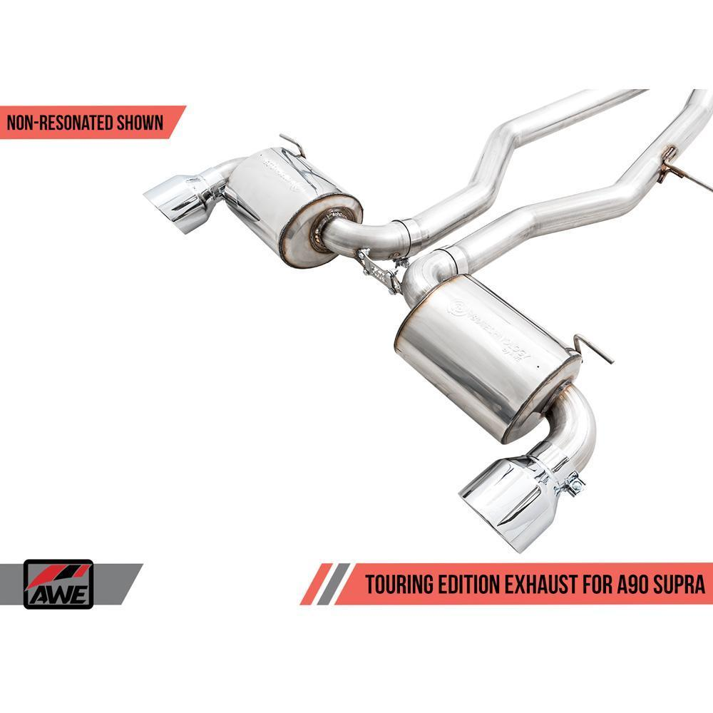 AWE Touring Edition Resonated Exhaust System - 2020+ A90 Toyota Supra - Draven Performance