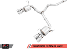 Load image into Gallery viewer, AWE Tuning Track Edition Chrome Silver Quad (102mm) Tips Exhaust - Subaru WRX | STI 2015-2019 - Draven Performance