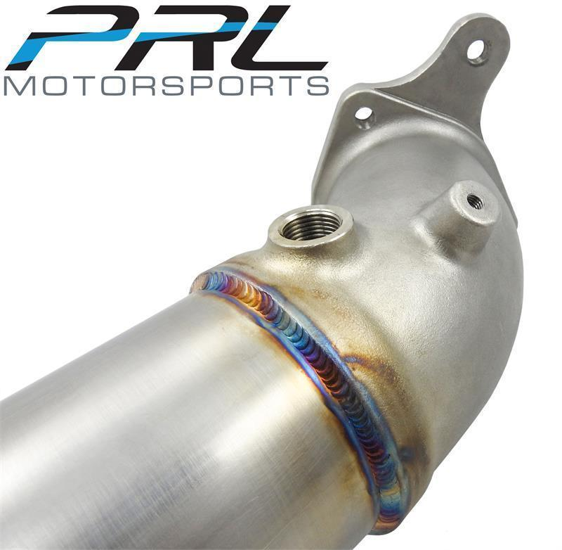 PRL Street Downpipe & Front Pipe Combo - 2017+ Honda Civic Type R - Draven Performance