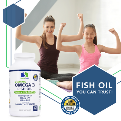 Essential Omega 3 Fish Oil - Triple Strength for Maximum Support of Your Immune, Brain, Heart & Joint Health