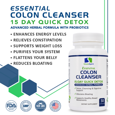 Essential Colon Cleanse Detox - 15-Day Quick Detox