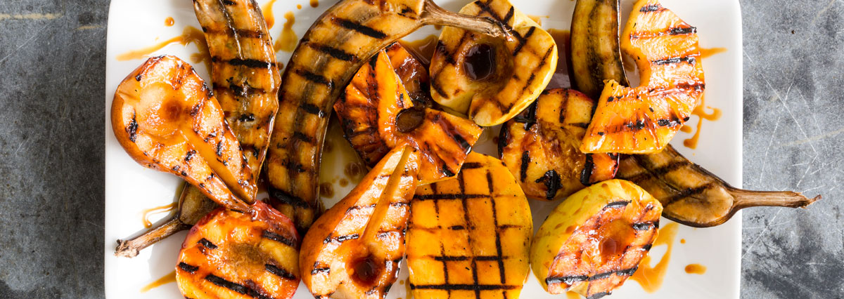 Grilled Fruit with Three Glazes