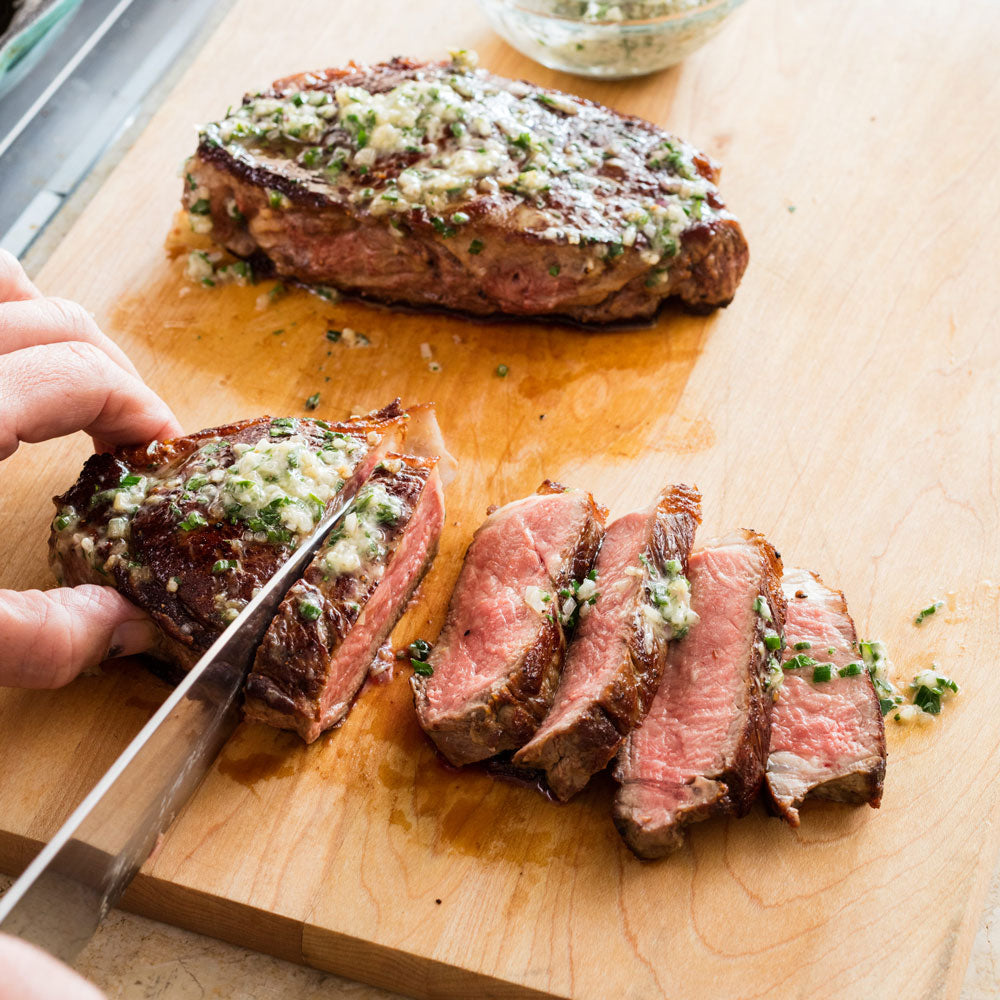 Thick-Cut Steaks with Herb Butter