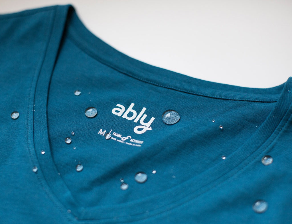 Ably™ : Unbelievably odor & stain repellant natural apparel