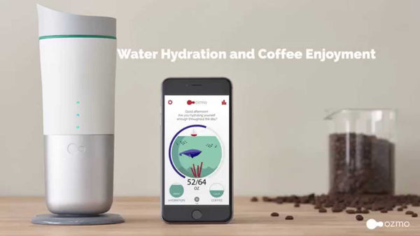 Ozmo Smart Cup: Water Hydration & Coffee Enjoyment