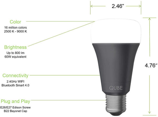 Qube – World's Most Affordable Wi-Fi Enabled Bulb