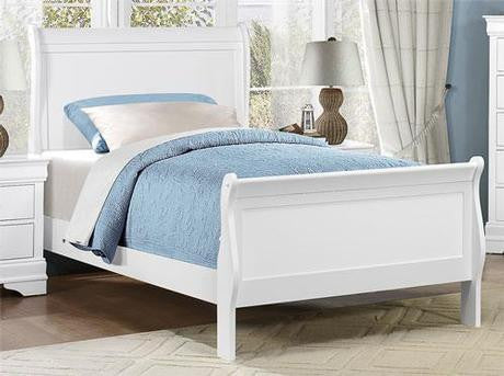 white sleigh bed mattress