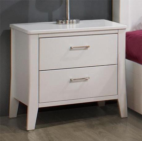 white 2 drawer night table furniture