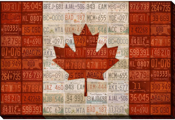 Canada Licence Plate Flag - 24x36