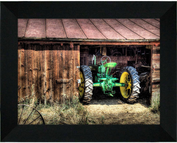 Deere in the Barn - 12x16