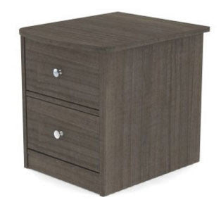 tuxedo 2 drawer night stand