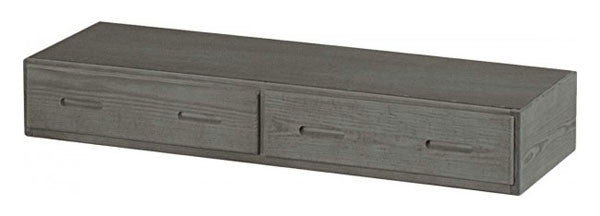 Graphite 2 Drawer Under Bed Storage Unit