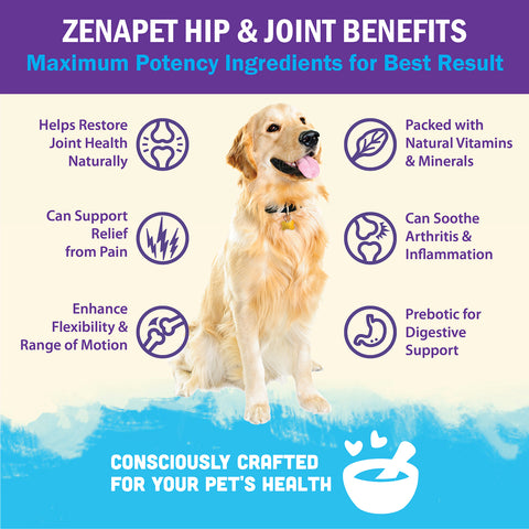 Glucosamine for Dogs: Dog Vitamins For Hip & Joint: Dog Joint Supplement Powder (LIMITED TIME VIP OFFER)