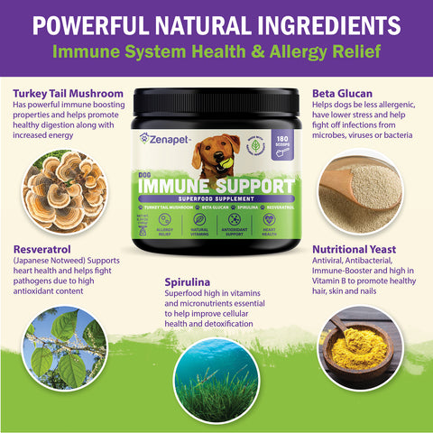Zenapet Dog Immune Support-Immune Booster for Dogs 180grams