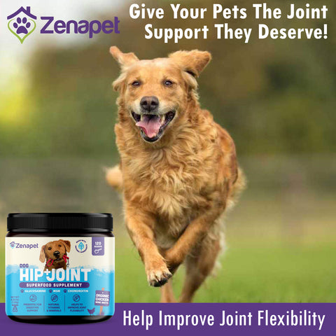 Glucosamine for Dogs: Dog Vitamins For Hip & Joint: Dog Joint Supplement Powder