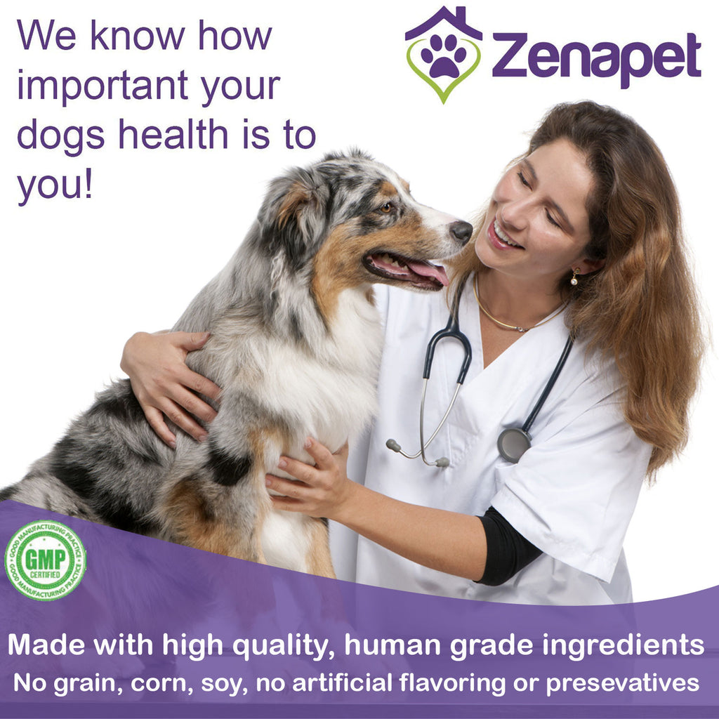Zenapet Dog Immune Support-Immune Booster for Dogs-Safeguard Your Dog's Immune System-Premier Superfood Supplement with Natural Vitamins for Dogs