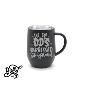 Depressed And Dehydrated No Boobs 12oz Mug