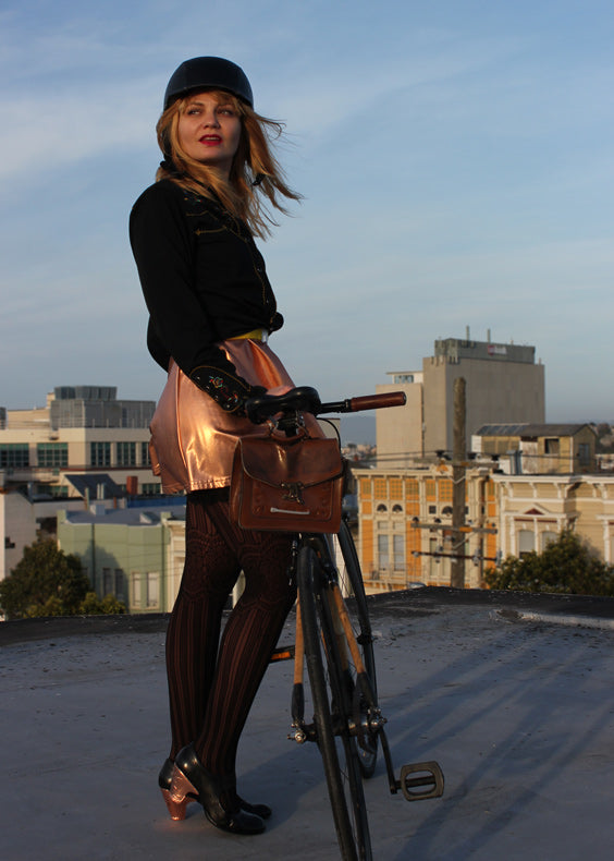Bike in a Skirt: Shiny Cycle Chic