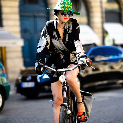 Fashion Week Street Style Bike Fashion: Summer 2015