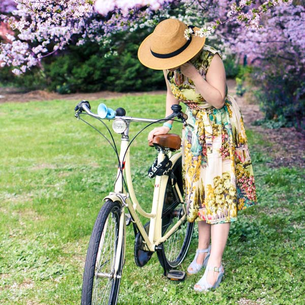 Bike Pretty - Straw Hat Bike Helmet